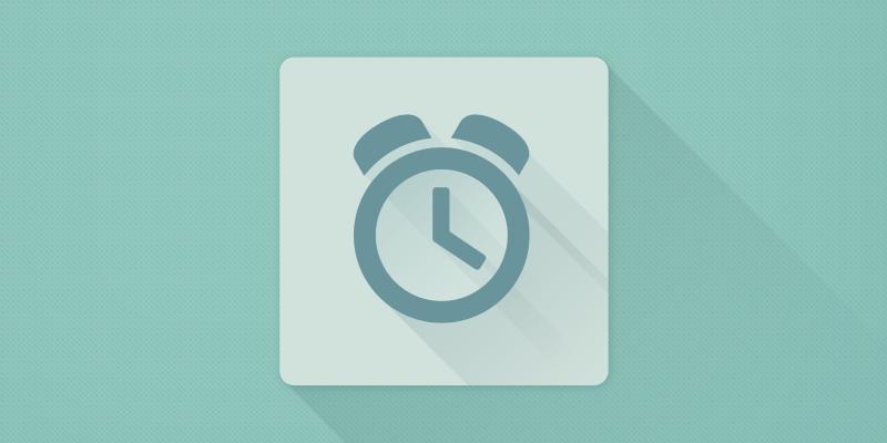 Clock - Flat Design Long Shadow