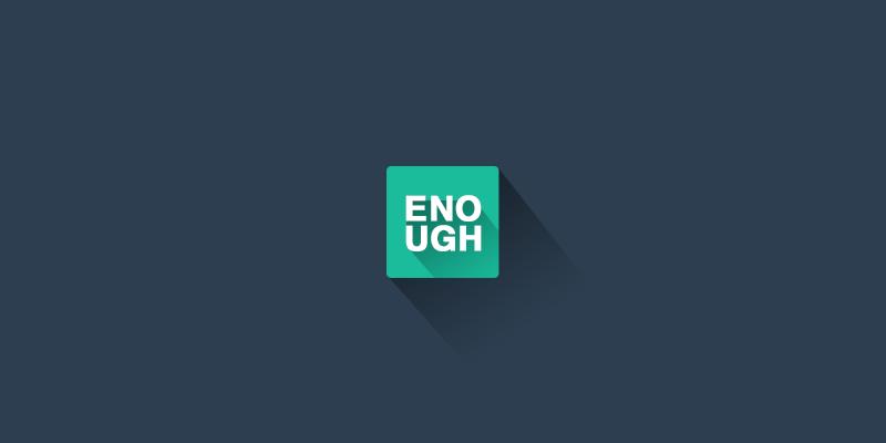 Enough icon
