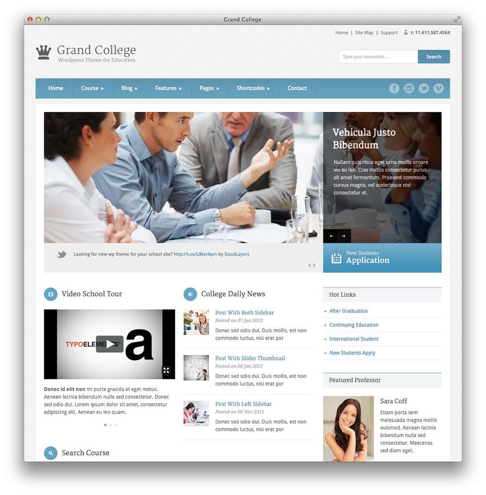 Themes wordpress para colegio, escuela, universidad y educación ...