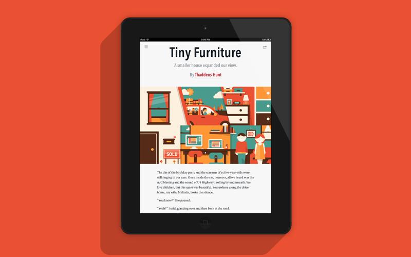 Tiny Furniture Illustration
