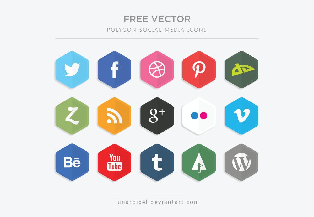 20 Beautiful Free Flat Social Media Icons Sets 2017 - colorlib
