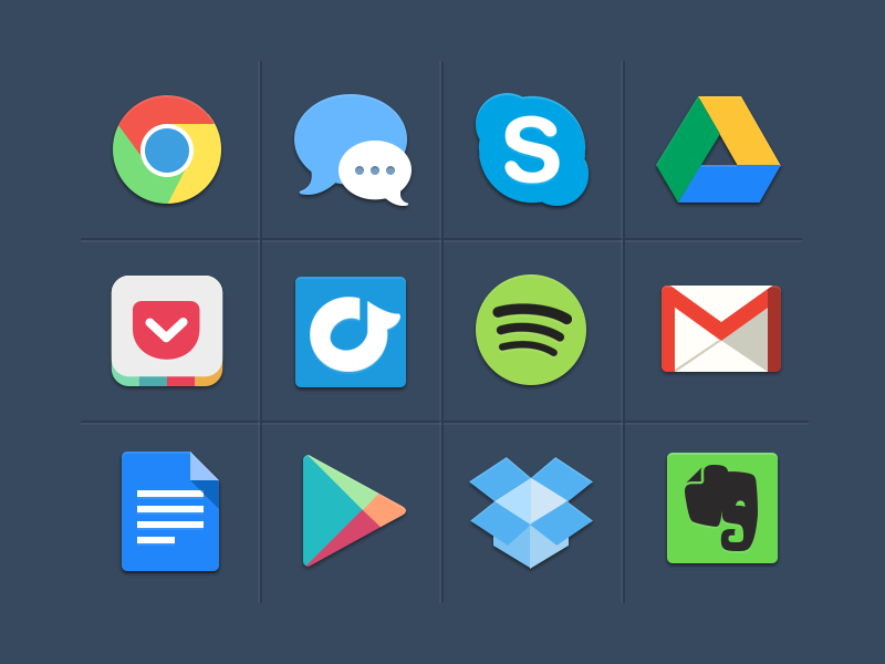 15 Beautiful Free Flat Social Media Icons Sets 2014