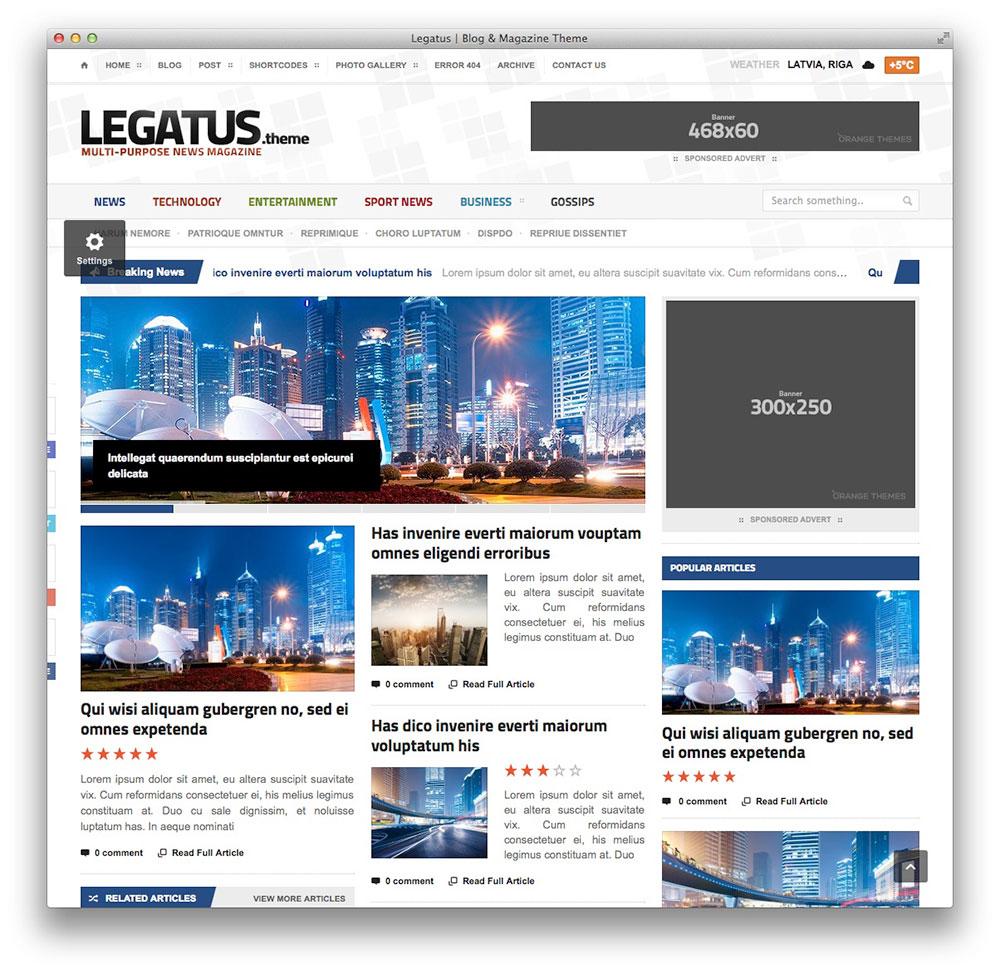 Legatus - Notícias tema