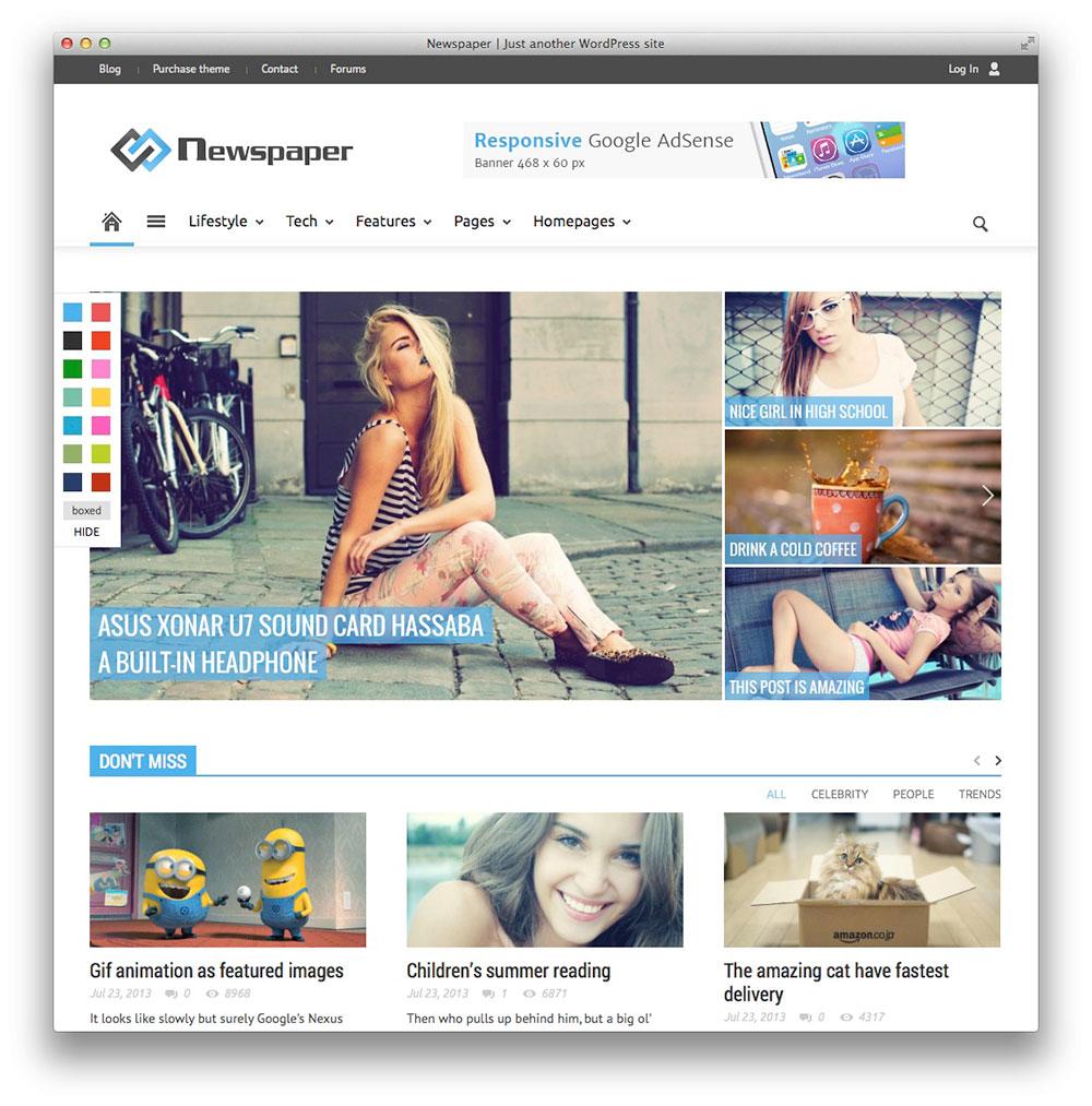 Newspaper tema WordPress