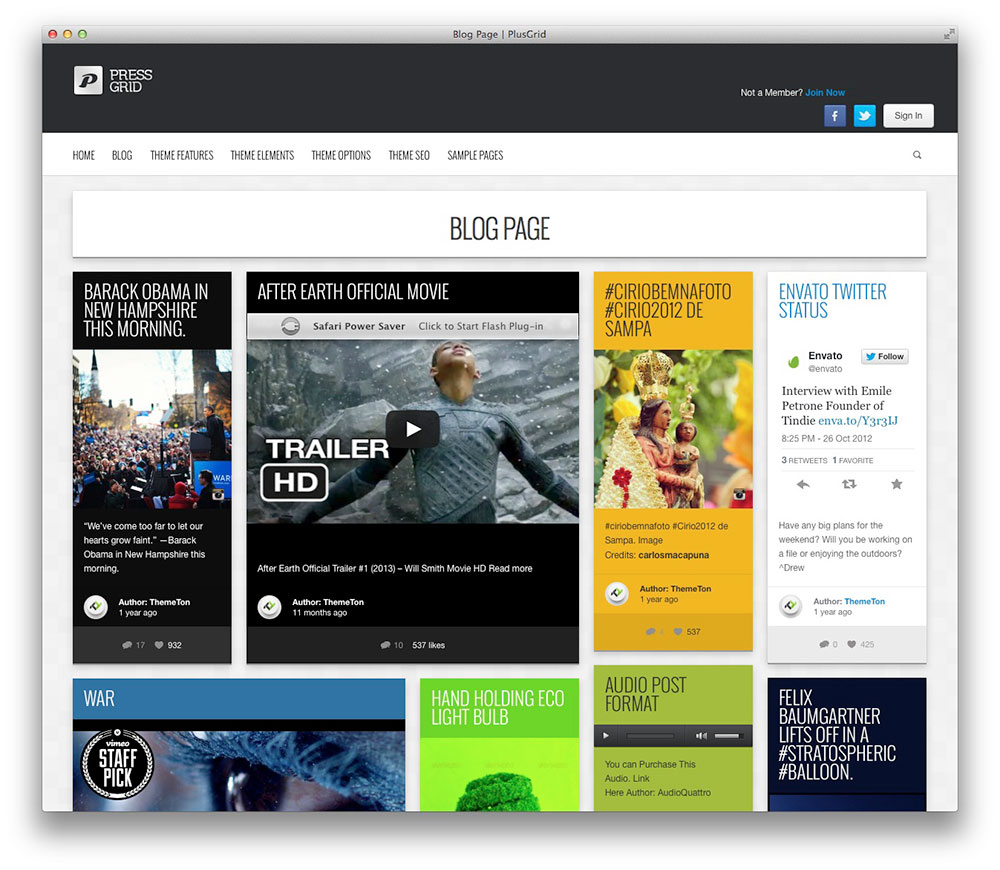 PressGrid Frontend Publishing Theme