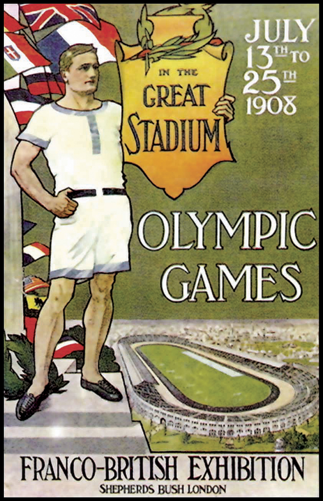 1908-London-Summer-Olympic-Games-Poster