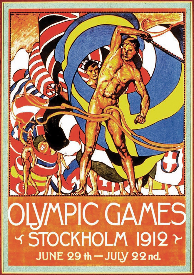 1912-Stockholm-Summer-Olympic-Games-Poster