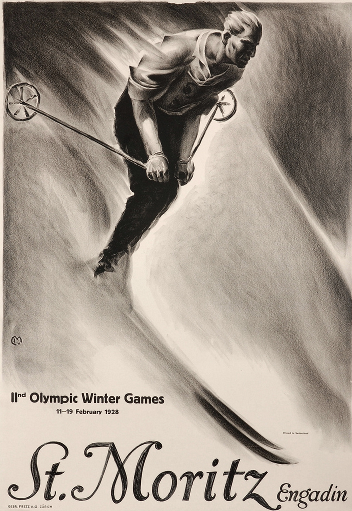 1928-Winter-Olympics-St.-Moritz-Switzerland-poster
