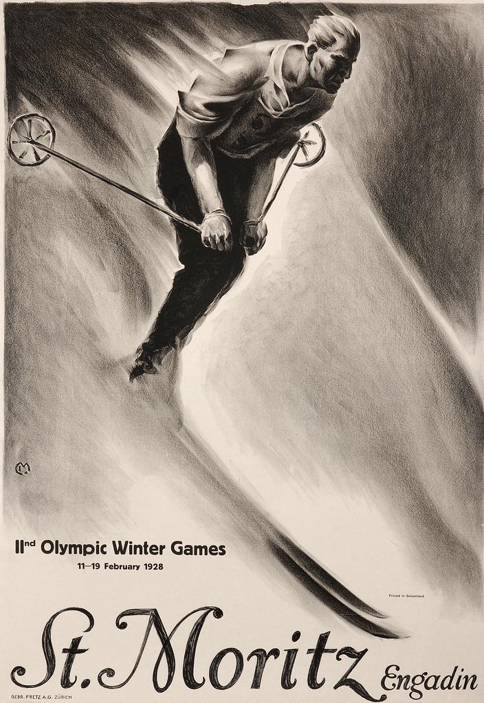 1928-Winter-Olympics-St.-Moritz-Switzerland-poster