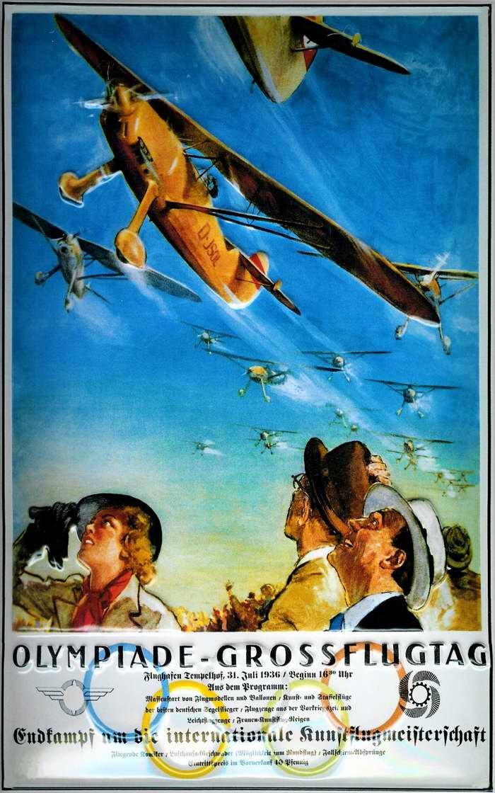 1936-Olympiade-Grossflugtag-poster