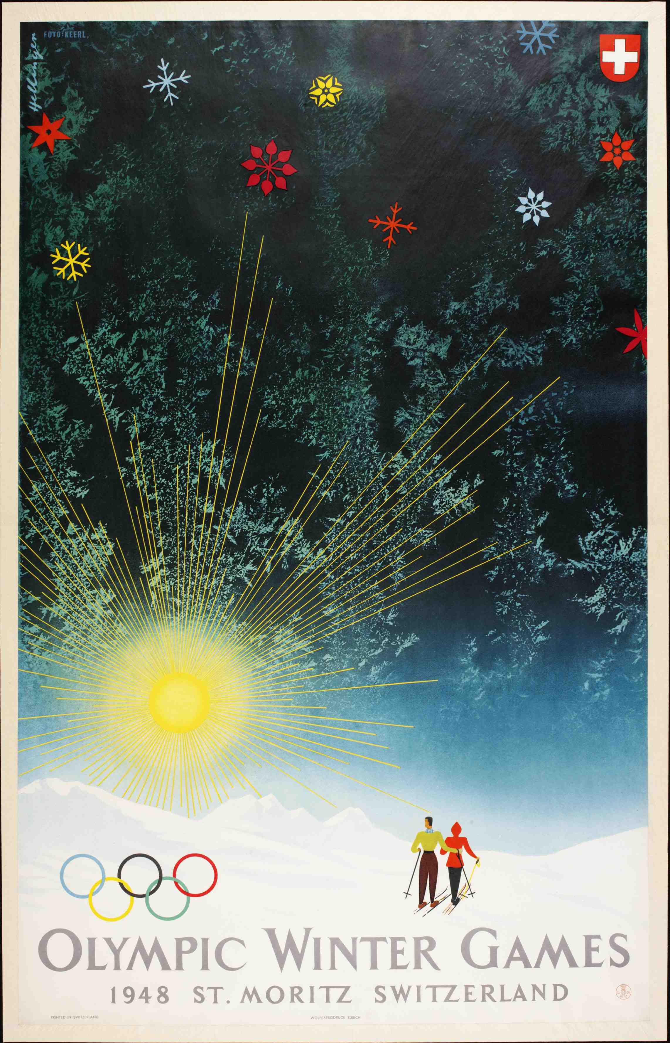 1948 Winter Olympics – St. Moritz, Switzerland Poster