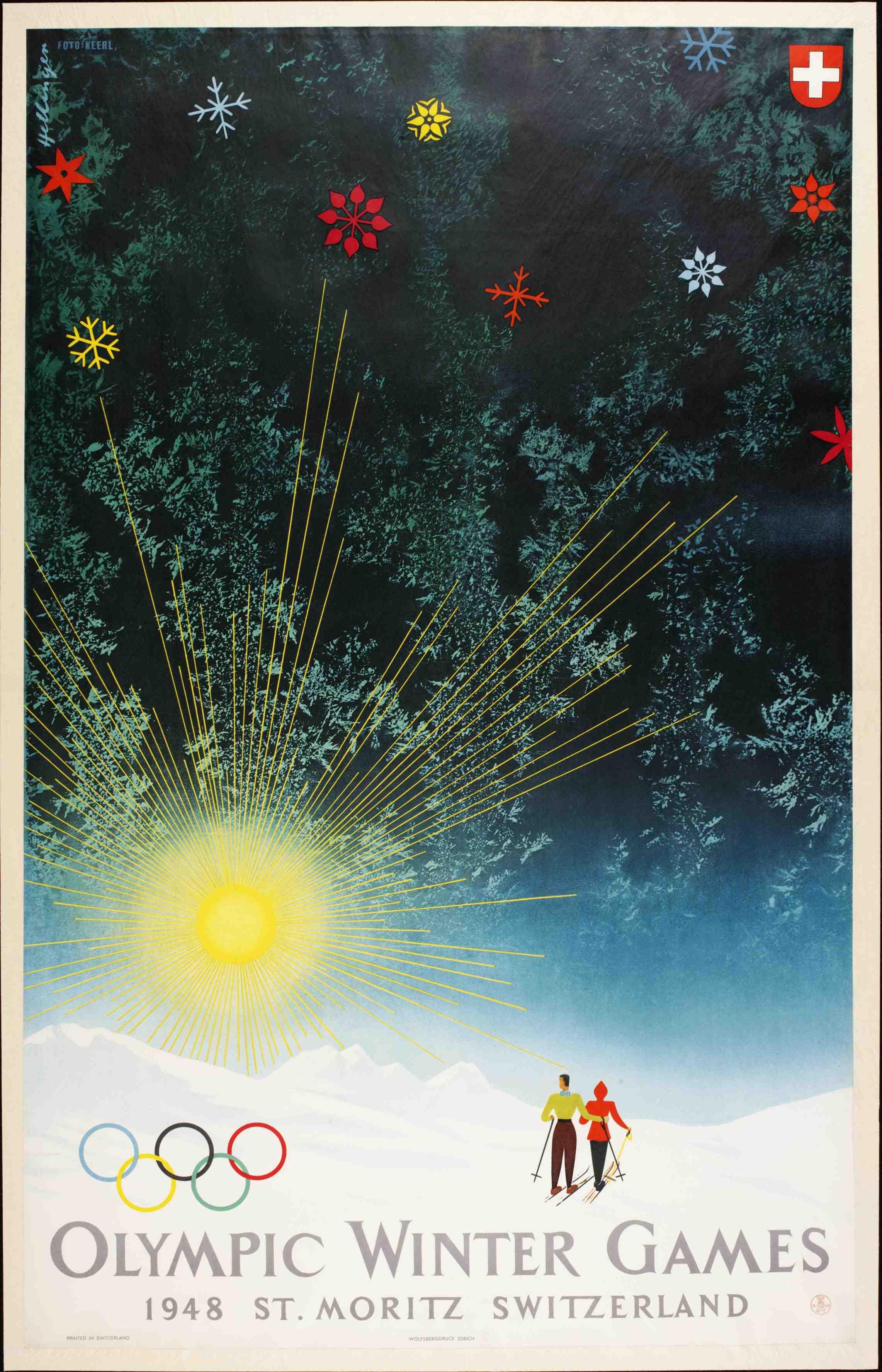 1948 Winter Olympics  – St. Moritz, Switzerland Poster
