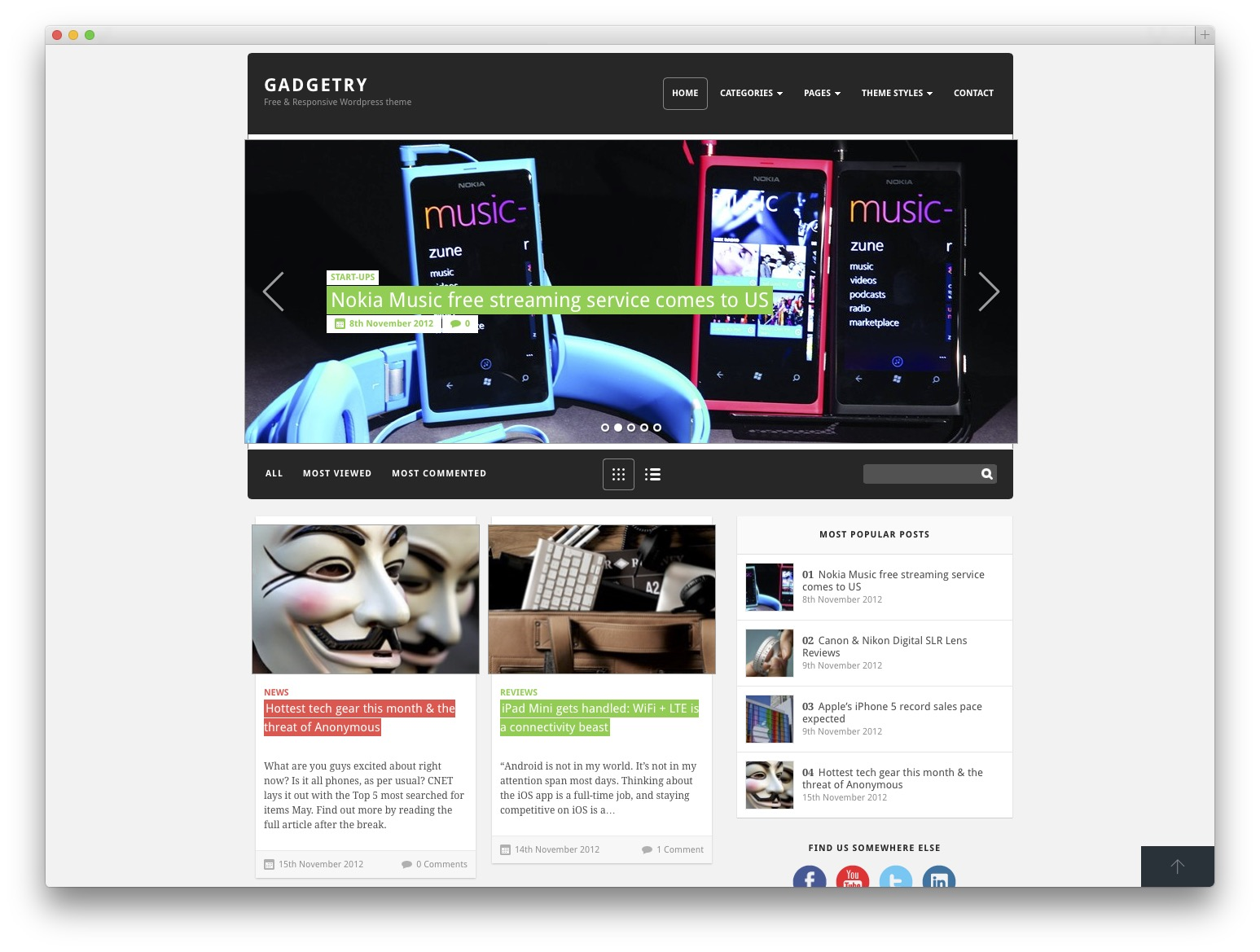 GADGETRY WordPress template