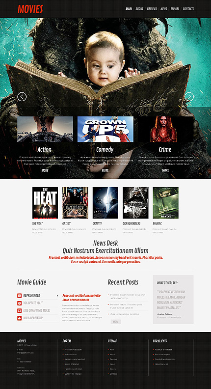 movie theater theme wordpress