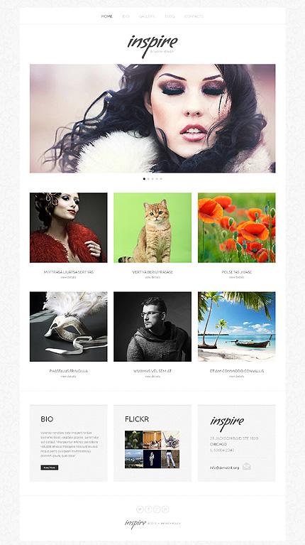 Artist Portfolio Responsive WordPress Theme