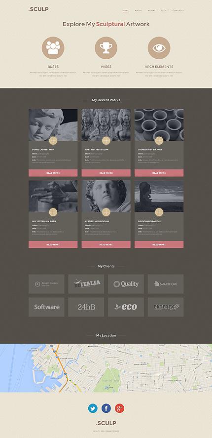 Sculpture WordPress Theme
