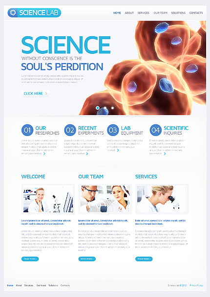 Science Lab WordPress Theme