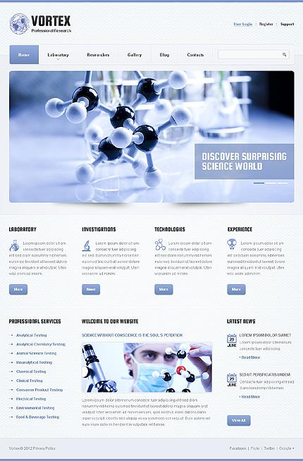 Science Responsive WordPress Theme