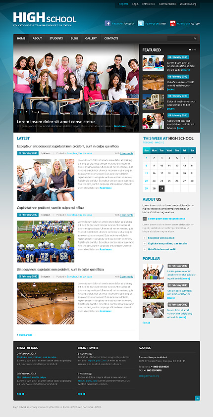 Education Institution WordPress Theme