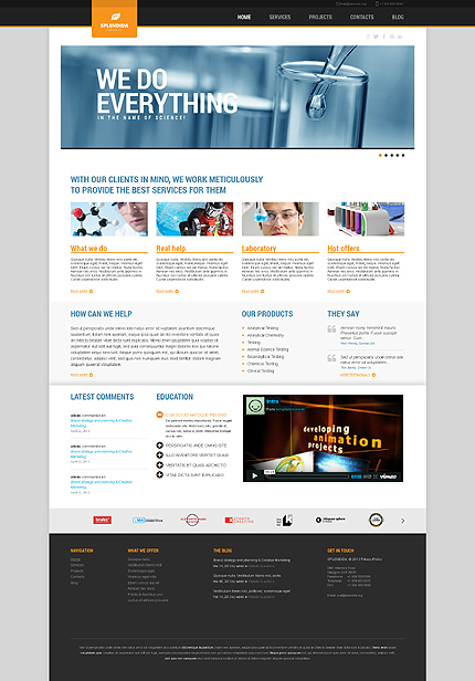 Science Laboratory WordPress Theme