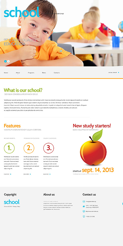 Primary School Responsive WordPress Theme