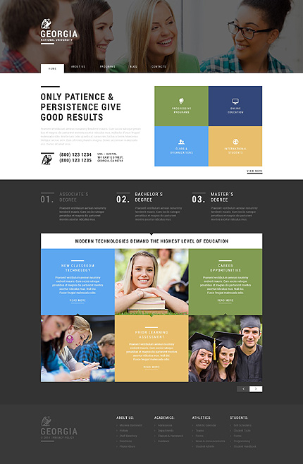 Web Promotion of Universities WordPress Theme