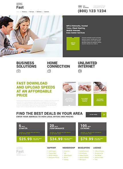 Fast Internet Provider WordPress Theme