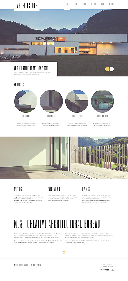 50 flat wordpress themes in bright and juicy colors 2017 for Architecture wordpress