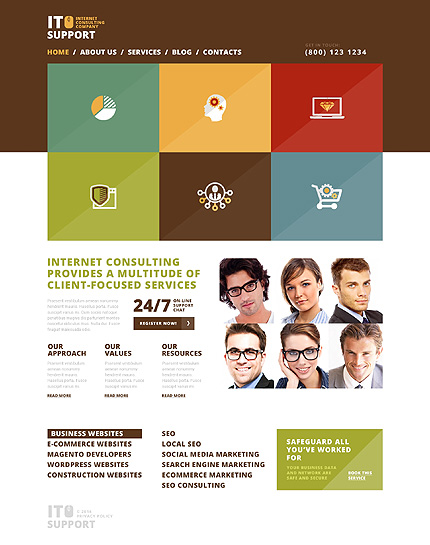 Trustworthy IT Company WordPress Theme