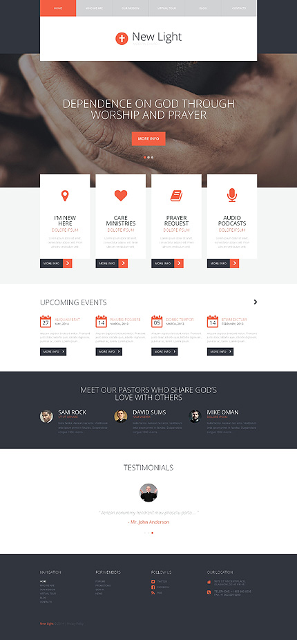Enlightenment Faith WordPress Theme