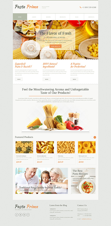Family Pasta WordPress Theme