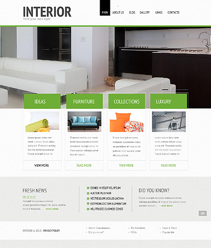 Exceptionnel Interior Design WordPress Theme