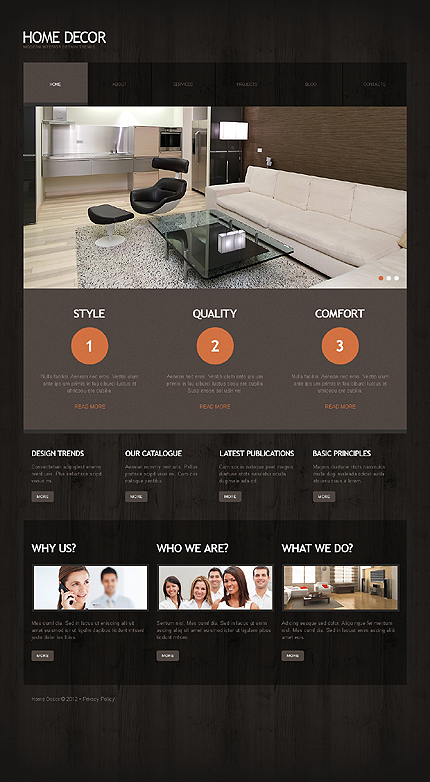 Interior Design WordPress Site