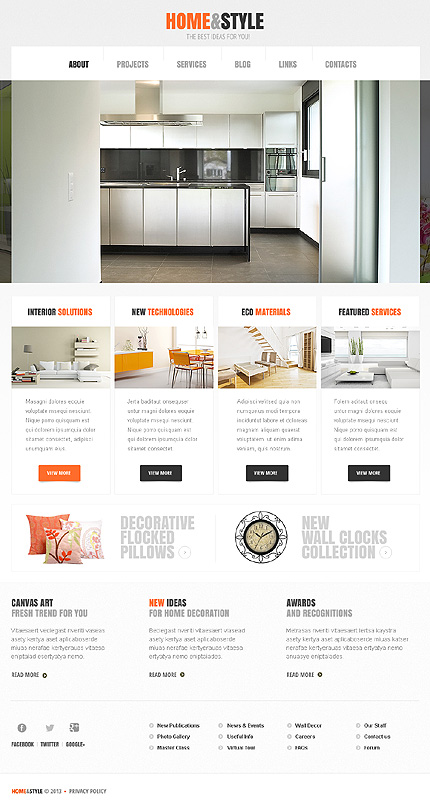 White Interior Design WordPress Theme 40 Themes That Will Boost Your