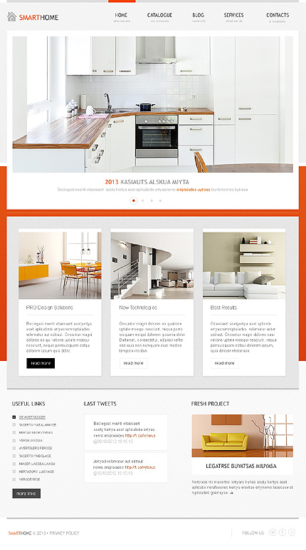 Kitchen Website Design Interior 40 Interior Design WordPress Themes That Will Boost Your .