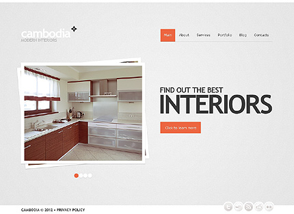 Skeuomorphism Interior Design WordPress Theme