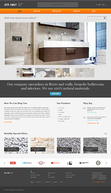 Elegant Flooring WordPress Theme