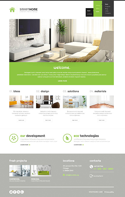 modern interior design wordpress theme. Interior Design Ideas. Home Design Ideas