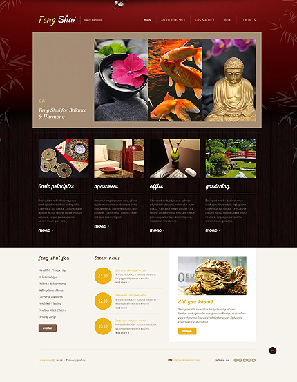 Peaceful Feng Shui WordPress Theme