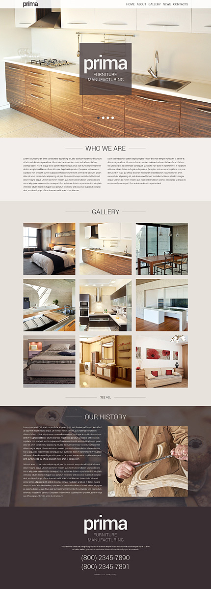 Furniture Responsive WordPress Theme. 40 Interior Design WordPress Themes That Will Boost Your