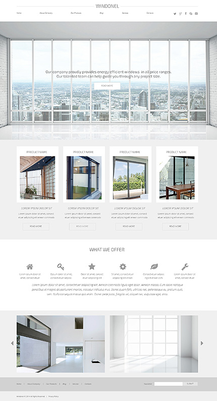 Window Responsive WordPress Theme