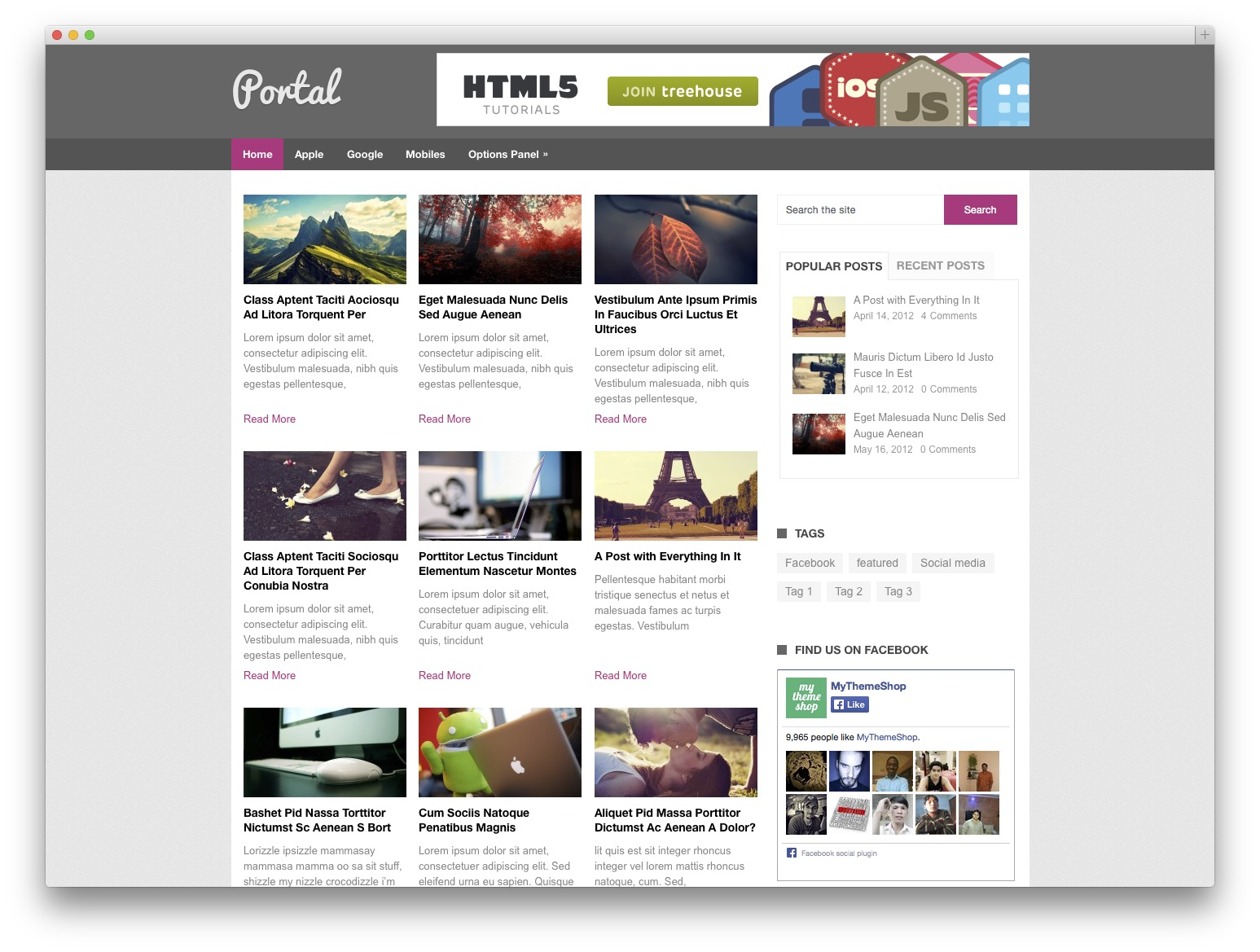 portal WordPress news theme