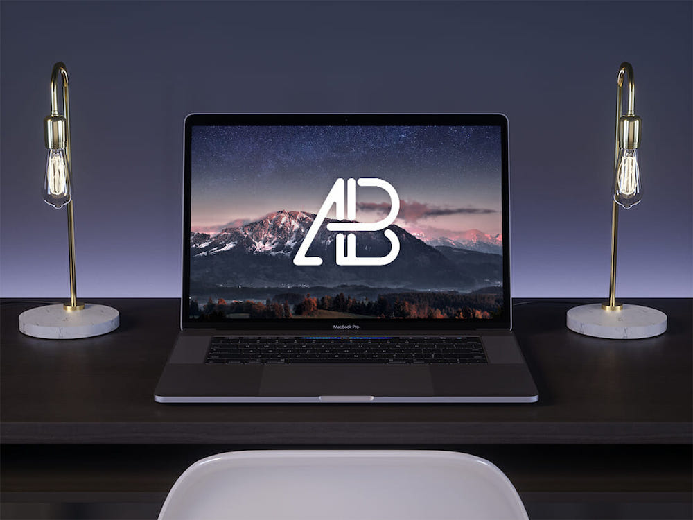 2017 macbook pro on desk mockup 2 anthony boyd graphics
