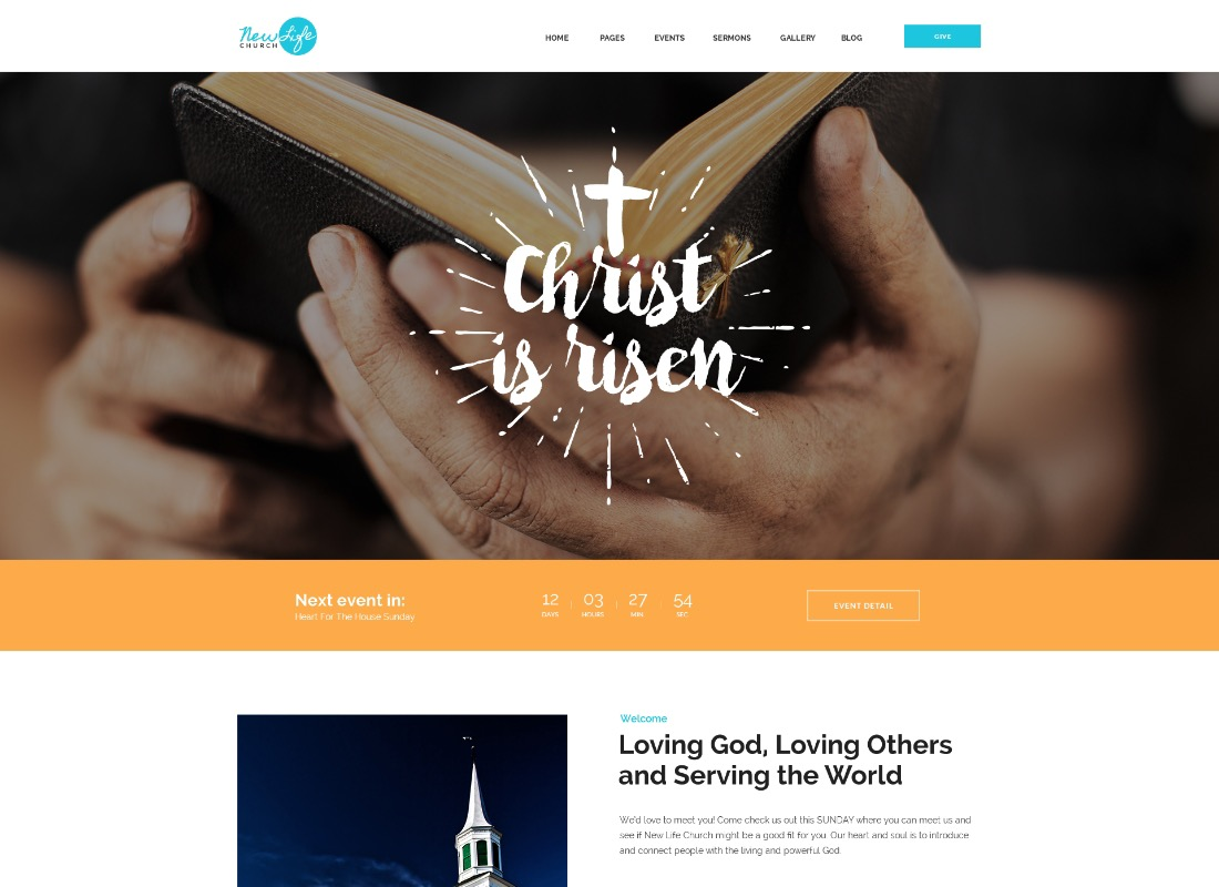 Family Church | Clean Responsive Religion PSD Template
