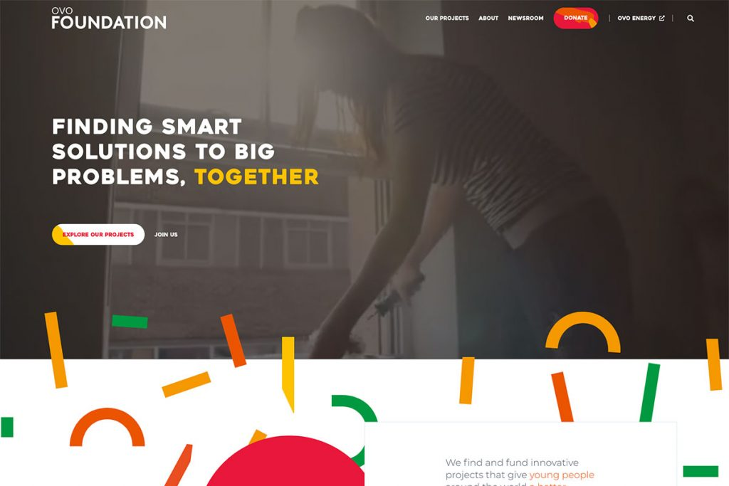 Ovo Foundation website design