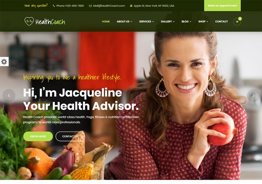 Health Coach - health coach WordPress theme