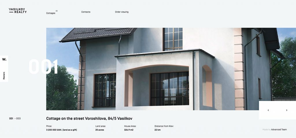 Vasilkov Realty website design
