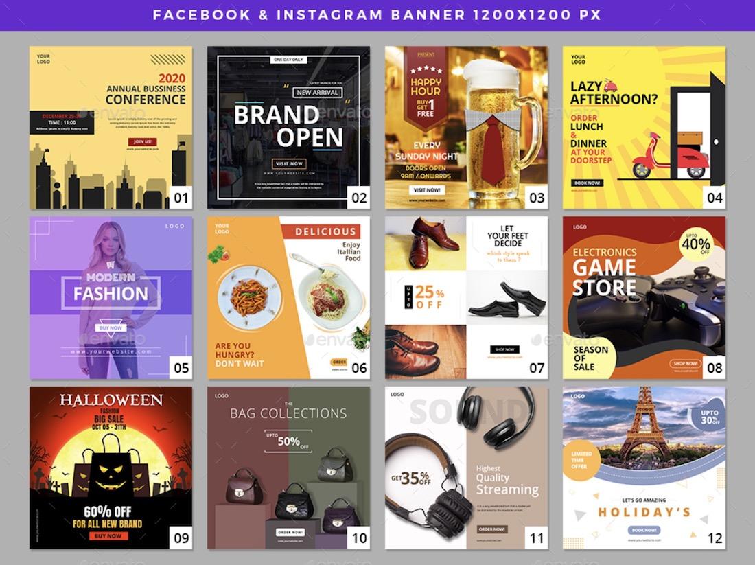 21 facebook instagram banners