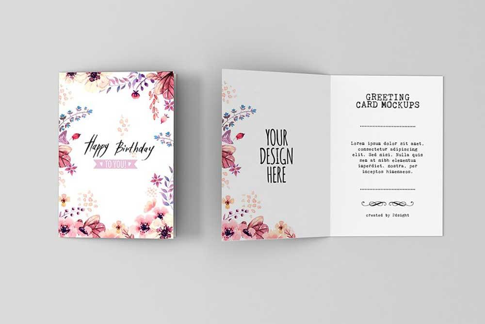 37 Greeting Card Mockups Birthdays Anniversaries