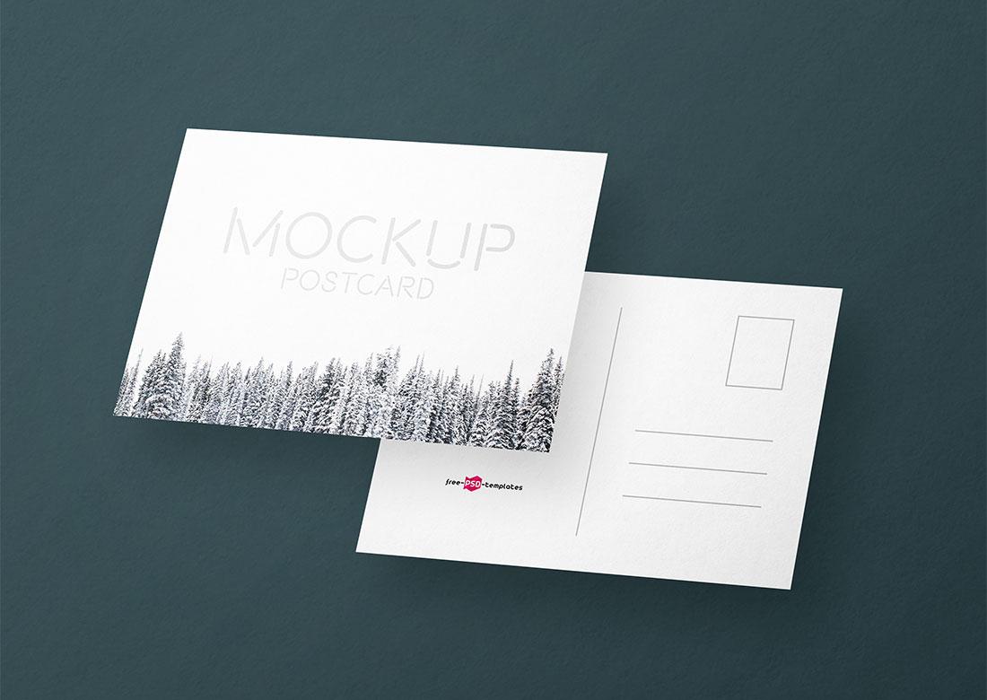 Postcard Design PSD Mockups